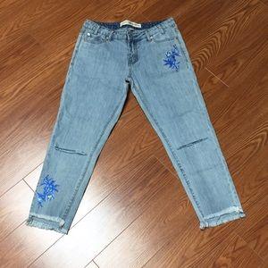 Ashley Mason womens size 5 100% cotton fray jeans